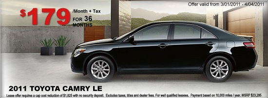 Camry lease ad