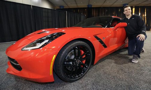 Joe Flacco and his 2014 Chevrolet Corvette Stingray
