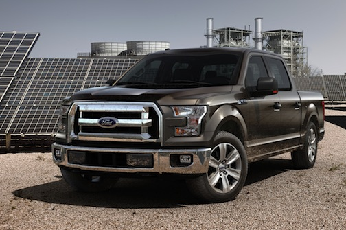 2015 Ford F-150, front-view