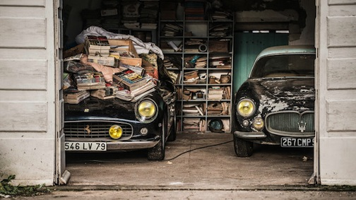 France Ferrari Maserati barn find