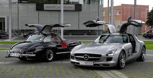 Mercedes Benz 300 SLS and SLS AMG